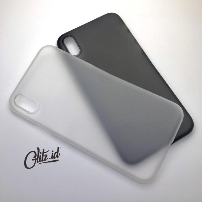 Foto Produk Ultra Thin Transparan (Semi Hard - Soft Case) Iphone 4 5 5c 6 7 Plus - ip 6 6s, Hitam dari Glitz Indonesia