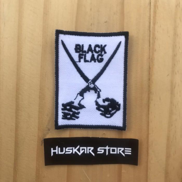 Jual Patch Emblem Bordir Black Flag Putih Logo Kab Cianjur Huskar Patch Tokopedia
