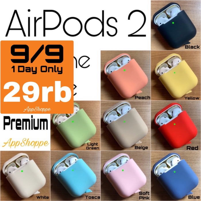 Foto Produk Apple Airpods 2 (GEN 2) Silicone Case Protective Cover Pouch dari AppShoppe