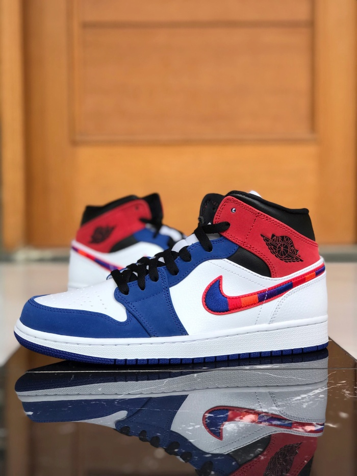 Nike Air Jordan 1 Mid Multicolor Swoosh