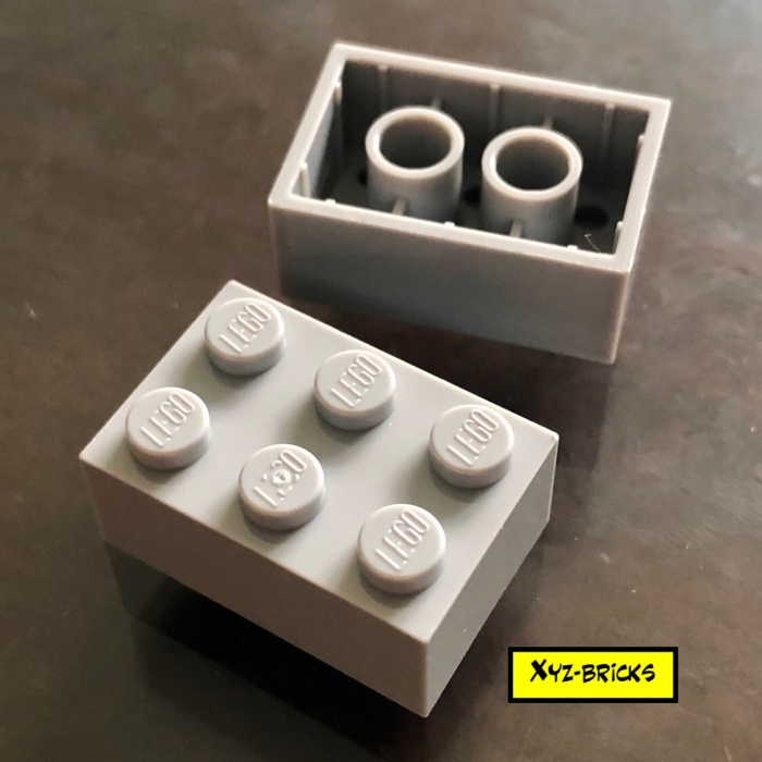 Parts /& Pieces - 4211386 5 x Lego Grey Brick size 2x3