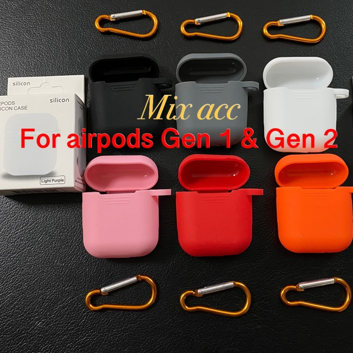 Foto Produk Apple Airpods Protection Silicone Case Pouch |Casing Pelindung Airpod - Putih dari Mix acc88