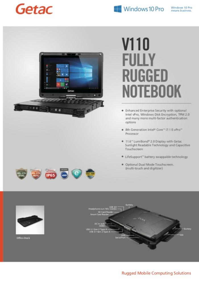 Jual Getac V110 G2 Fully Rugged Laptop