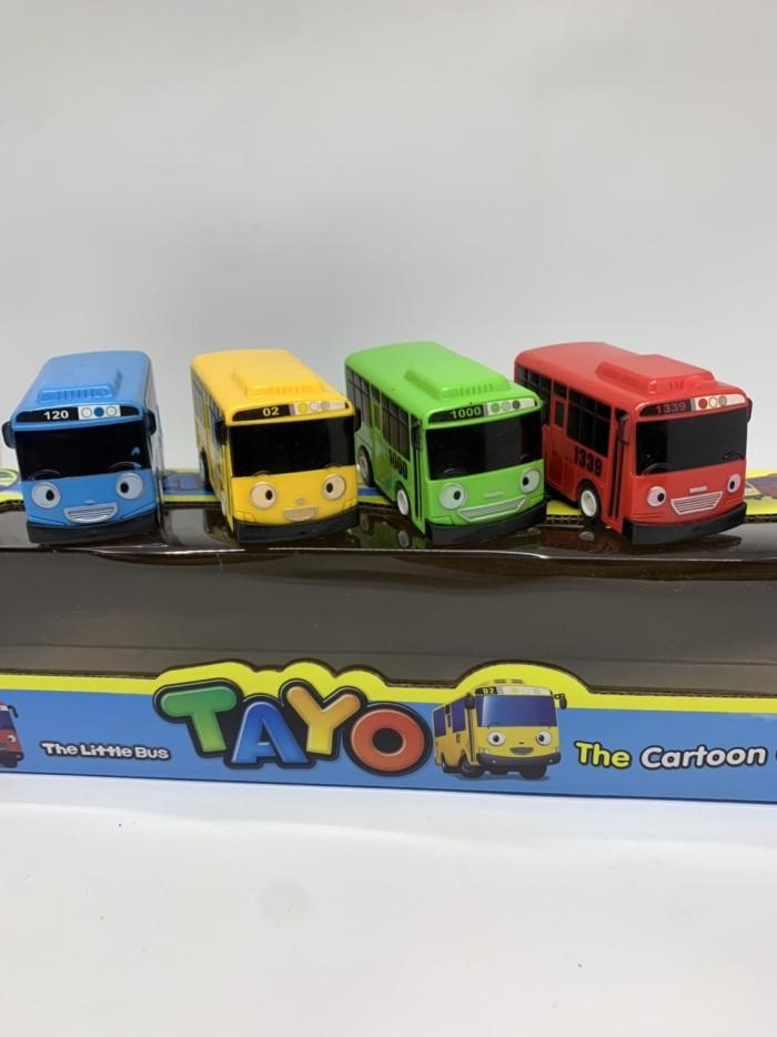 Foto Produk mainan anak mobil pullback tayo set isi 4 dari bintangjaya toys