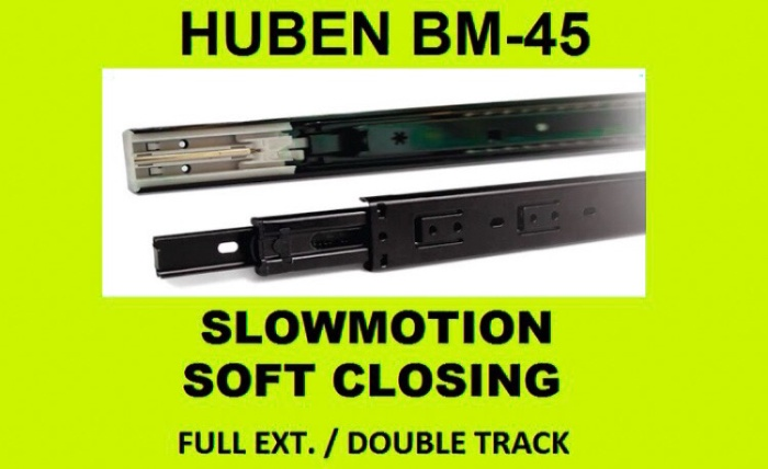 Foto Produk Rel Laci Huben 50 CM BM45 Black Huben Slow Motion dari Primas Sukses Toko