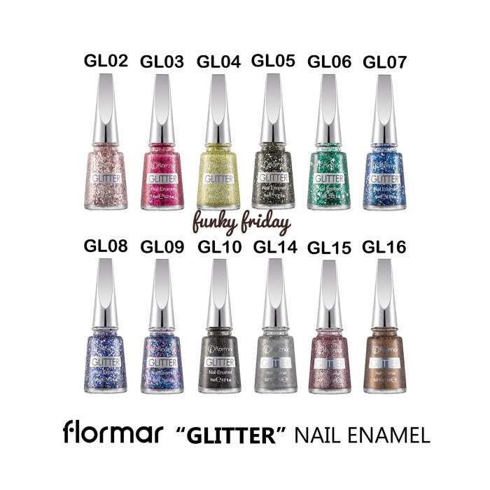 Flormar Glitter Nail Enamel Nail Polish Kutek Spesial Promo Termurah Kutek Kuku Halal Muslimah Bisa Untuk