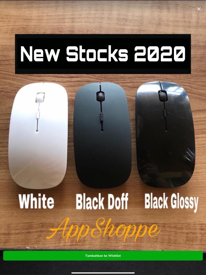 Foto Produk Thin Wireless Mouse APPLE SLIM WITH USB RECEIVER 2.4GHz MACBOOK LAPTOP dari AppShoppe