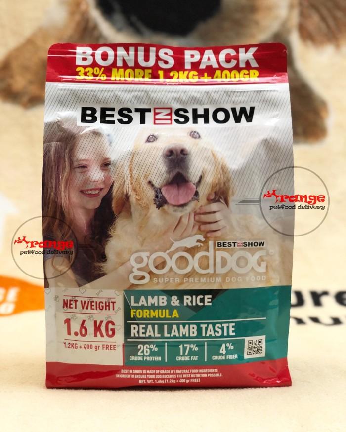 Foto Produk best in show ( good dog ) adult lamb & rice 1,6 kg dog food dari orange petfood delivery