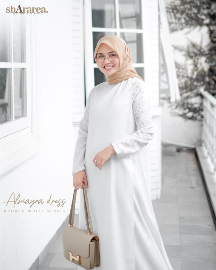 Jual Almayra Dress White Black Shararea Jakarta Timur Ataraofficial Tokopedia