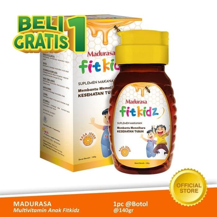 Foto Produk Buy 1 Get 1 - Madurasa Multivitamin Anak Fitkidz Botol 140 gr Pet dari Air Mancur Official Shop