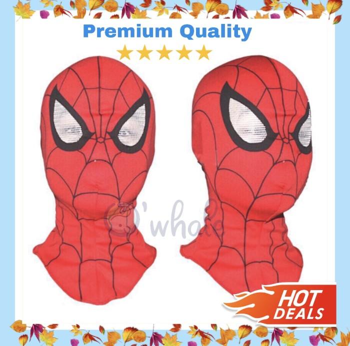 Foto Produk Topeng Spiderman Bahan Kain / Spiderman Mask Premium Quality dari Owhale