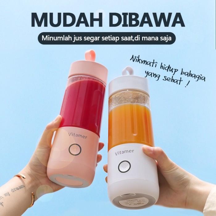 Foto Produk Vitamer 350ML Portable Juicer/Blender 100% ORIGINAL - Merah Muda dari JAFA SUPPLY