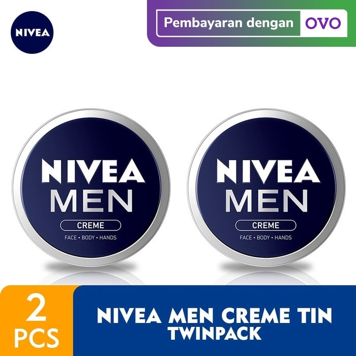 Foto Produk Nivea Men Crème Tin 75ml - Twin Pack dari NIVEA Official