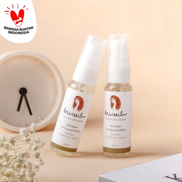 Foto Produk Hair Sealant - Organic Coconut Oil Vanilla 30 ML dari kriwil indonesia