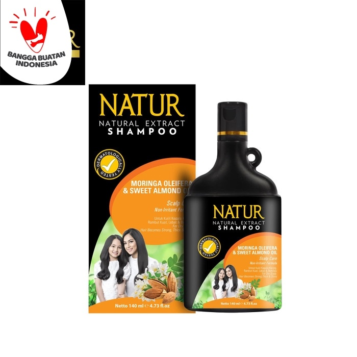 Foto Produk Natur Shampoo Moringa & Sweet Almond Oil dari Back To Natur