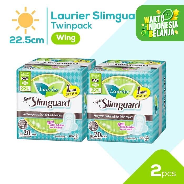 Foto Produk Laurier Super Slimguard Day 22.5cm 20S Twinpack dari KAO Official Store