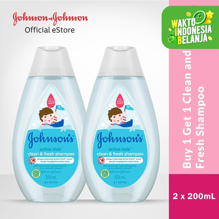 Foto Produk Johnson's Active Kids Fresh Shampoo 200ml Free Johnson's Shampoo 200ml dari Johnson & Johnson