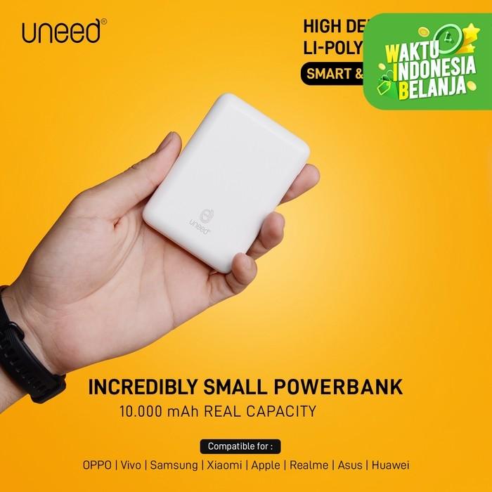 Foto Produk UNEED CompactBox 10 Powerbank 10000mAH High Density Polymer - UPB401 - BLACK dari Uneed Indonesia