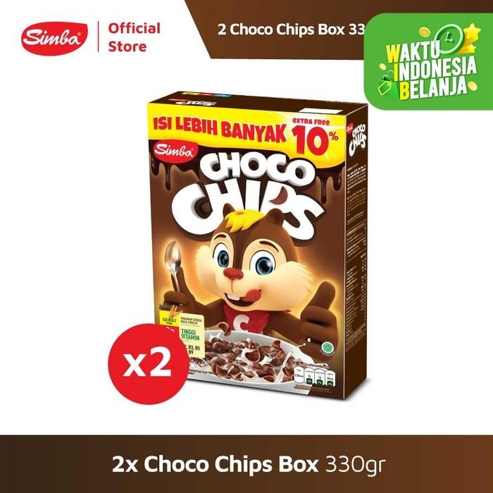 Foto Produk Choco Chip Cereal SIMBA - 2 Choco Chips Box 330 gr Lebih Hemat dari Simba Official Store