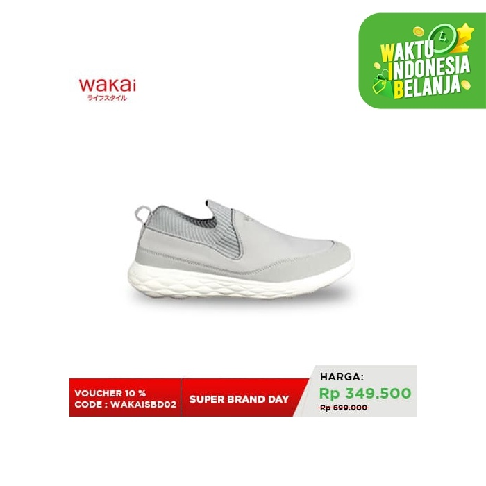 Foto Produk Footwear Men Wakai FM01903 ARUTO Grey/White - 43 dari Wakai Official Store