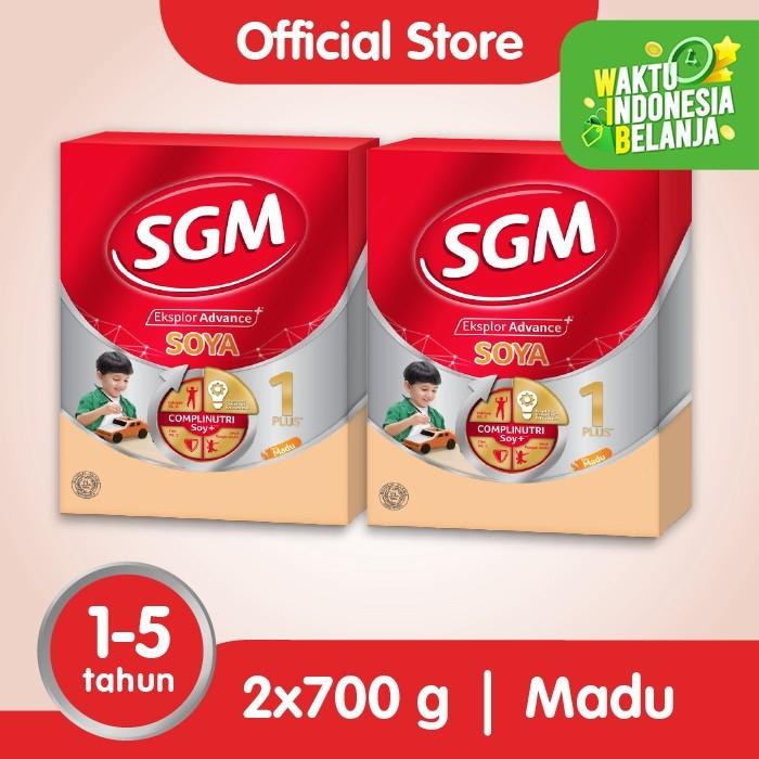 Foto Produk Paket 2 - SGM Eksplor SOYA Susu Pertumbuhan 1-5 Thn Madu 700g dari SGM Official Store