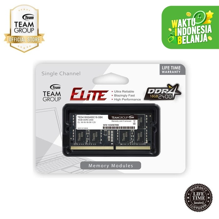 Foto Produk Team Memory Notebook 16GB PC 2400 DDR4 dari Teamgroup Official Store