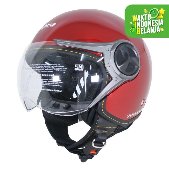 Foto Produk Cargloss YR Ghotic Helm Half Face - Deep Red Mett - Size XL dari Helm Cargloss