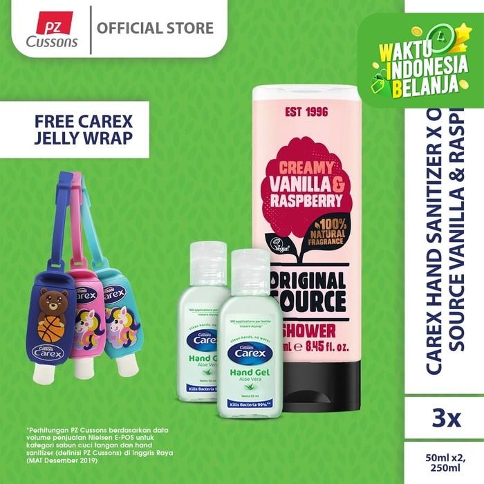 Foto Produk Carex Hand Sanitizer x Original Source Vanilla & Raspberry dari Cussons Official Store
