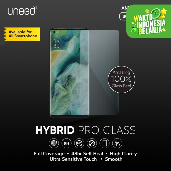Foto Produk Uneed Hybrid Pro Anti Break Screen Protector Handphone Full Cover - Front 1pcs dari Uneed Indonesia