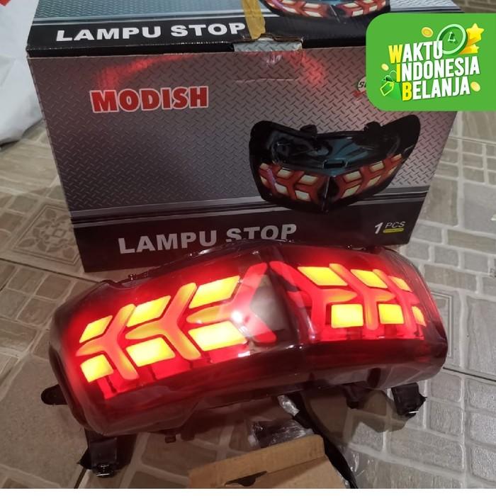 Foto Produk STOPLAMP LAMPU STOP LED NMAX 155 OLD RUNNING HIGH QUALITY MIKA SMOKE dari Lestari Motor 2