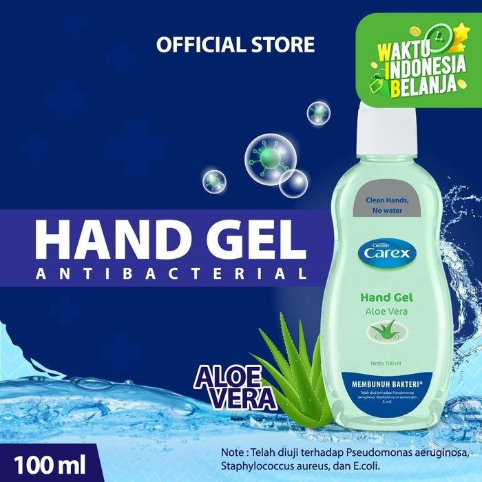 Foto Produk Carex Hand Gel Aloe Vera 100 ml dari Cussons Official Store