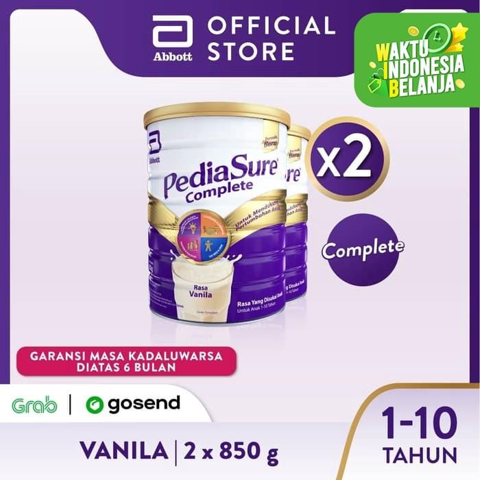 Foto Produk Pediasure Complete Vanila 850g (1-10 thn) Susu Pertumbuhan Anak - 2klg dari Abbott Official Store