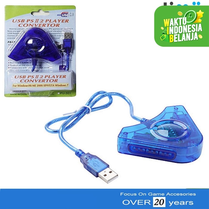Foto Produk Converter USB 2 Slot Stik Stick PS2 ke PS3 / PC Double dari Timur Game Shop