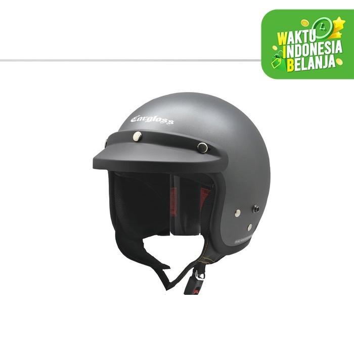 Foto Produk Cargloss Retro Army Helm Half Face - Anchor Grey SG (Doff) - Abu-abu, SIZE M dari Helm Cargloss