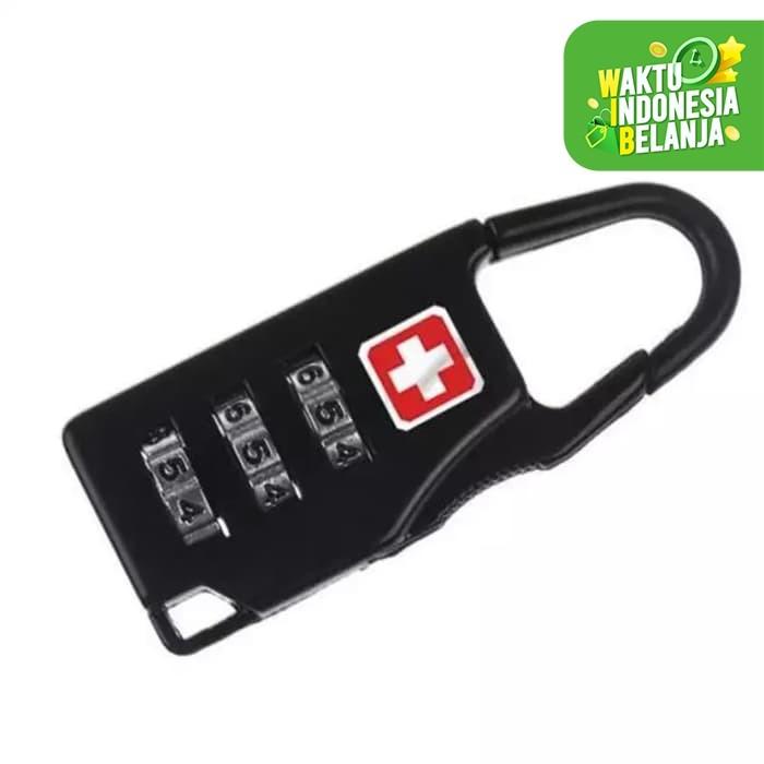 Foto Produk Gembok Kunci Koper padlock Travel Bag swiss gear army keychain Lock dari K2 Official Store