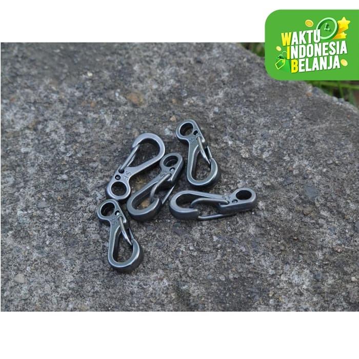 Foto Produk Mini Spring Keychain Hanging Buckle Quickly Key Ring Carabiner Tali dari lbagstore