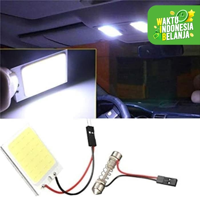 Foto Produk Lampu LED Kabin Plafon Mobil Festoon Dome Panel Light COB 24 SMD dari lbagstore