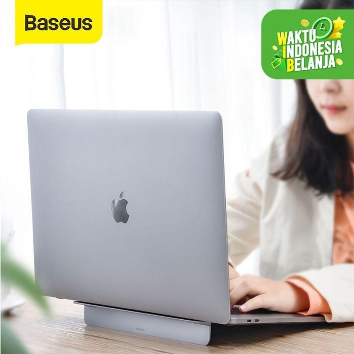 Foto Produk DUDUKAN LAPTOP BASEUS PAPERY NOTEBOOK LAPTOP STAND HOLDER MEJA LAPTOP - Perak dari Baseus Official Store
