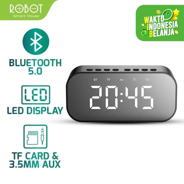 Foto Produk ROBOT Speaker Bluetooth 5.0 with LED Display & Alarm Clock RB550 dari ROBOT OFFICIAL SHOP