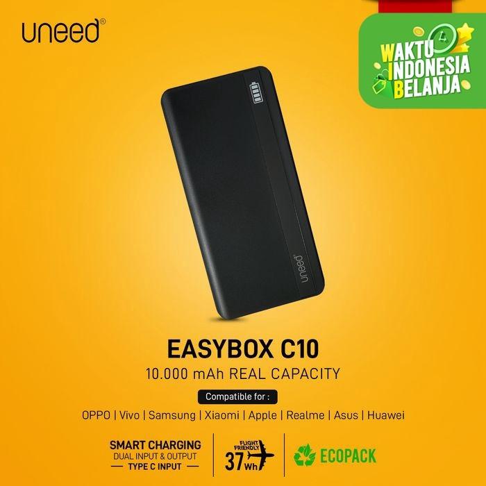 Foto Produk UNEED EasyBox C10 Powerbank 10000mAh Smart Charging 2.1A – UPB413 - Hitam dari Uneed Indonesia