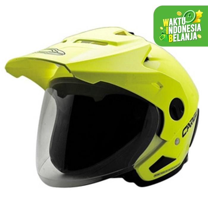 Foto Produk Helm Former Cargloss Text FZ Yellow - Kuning, MEDIUM dari Helm Cargloss