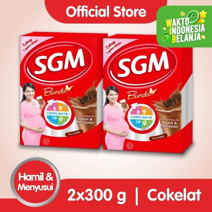 Foto Produk Paket 2 - SGM BUNDA Minuman Ibu Hamil & Menyusui Coklat 300g dari SGM Official Store
