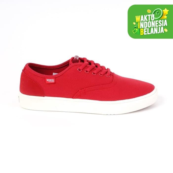 Foto Produk Wakai Footwear Pria Sneakers Snm01808 Uwabaki Red - 43 dari Wakai Official Store