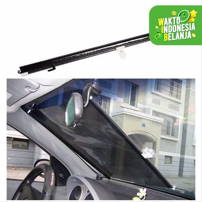 Foto Produk Sunshield Roll Pelindung Anti Panas Matahari Mobil Tabir Surya Gulung dari lbagstore