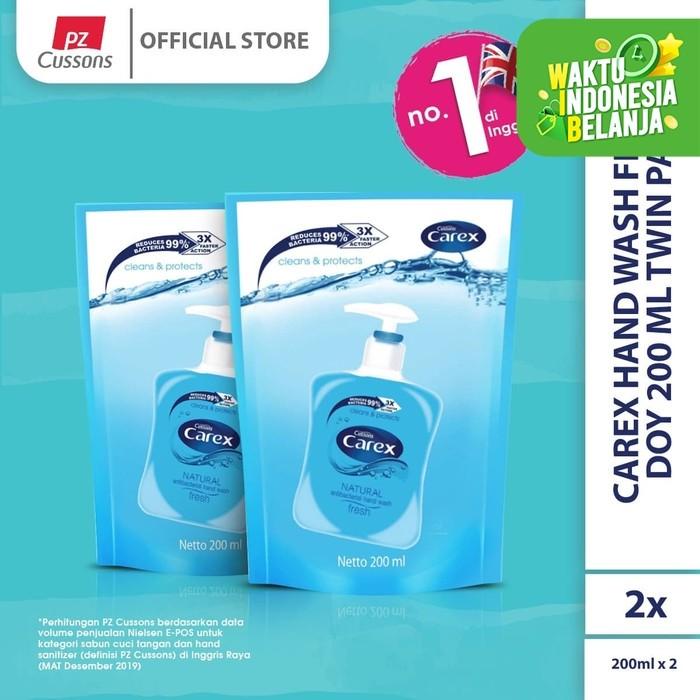 Foto Produk Carex Hand Wash Fresh DOY 200 ml Twin Pack dari Cussons Official Store
