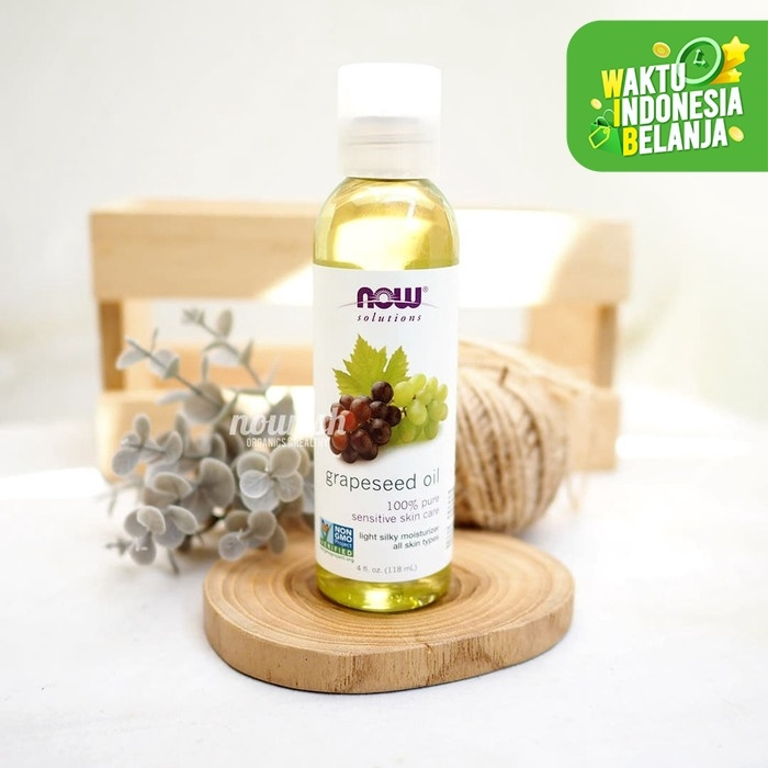 Foto Produk Now Foods, Solutions, Grapeseed Oil, 4 fl oz (118 ml) dari Nourish Indonesia