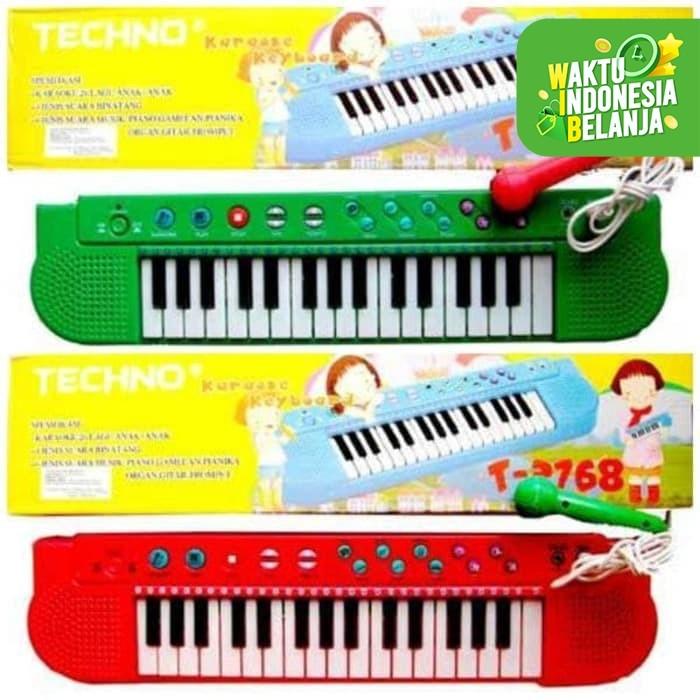 Foto Produk Mainan Piano Techno Karaoke Lagu Anak Indonesia T-2768 - Biru dari EAZYTOYS