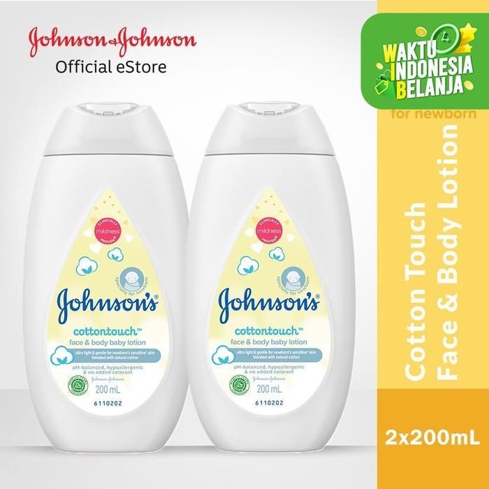 Foto Produk Buy 1 Get 1 JOHNSON'S Baby Cotton Touch Baby Face & Body Lotion 200ml dari Johnson & Johnson