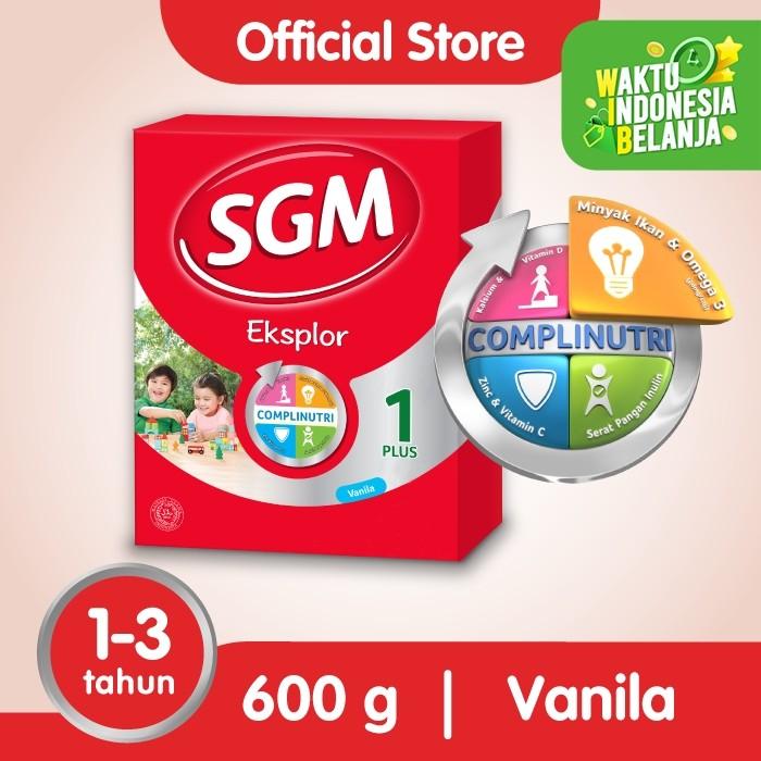 Foto Produk SGM Eksplor 1 Plus Susu Pertumbuhan 1-3 Thn Vanila 600g dari SGM Official Store