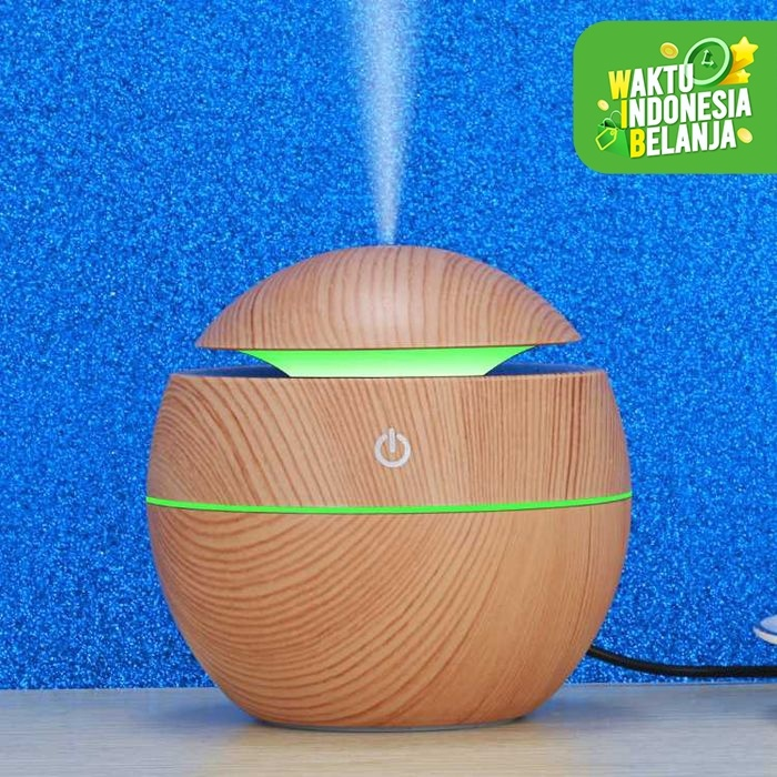 Foto Produk UltraSonic Aroma Aromatherapy Air Humidifier Pelembab Pewangi Ruangan - Hitam dari lbagstore